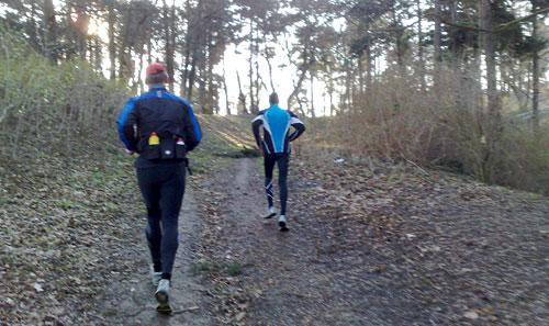 Läufer auf dem Rodelberg