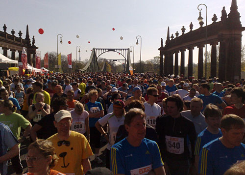 Läufer beim Drittelmarathon Potsdam