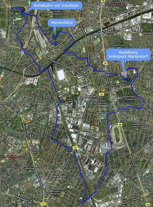 Karte Drei-Höhen-Lauf
