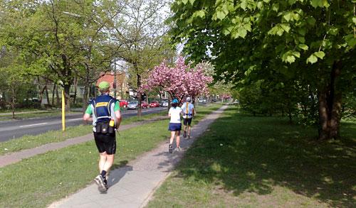 Läufer auf Barnetstraße