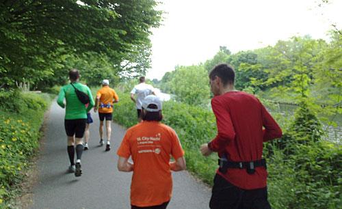 Läufer am Teltowkanal