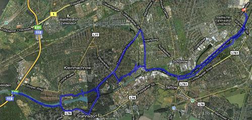 Karte vom langen Lauf zur Hakeburg