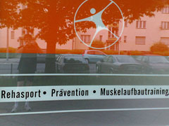 Schaufenster Physiotherapie-Praxis