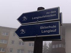 Schilder Skischule Langlauf