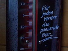 Thermometer bei 2 Grad