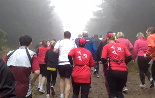 Läufer beim Rennsteiglauf-Halbmarathon 2010