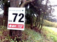 Schild 72 km