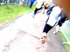 Läufer nahe des Ziels