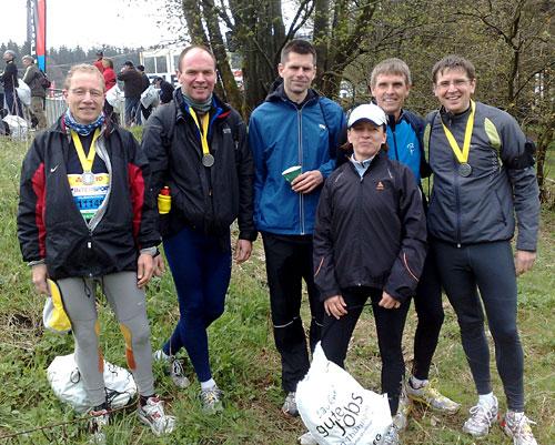 Im Ziel beim Rennsteiglauf-Halbmarathon 2010