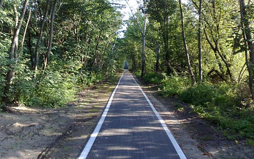 Asphaltierter Radweg