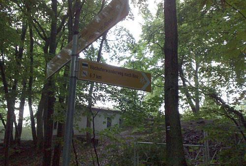 Schild Hochuferweg
