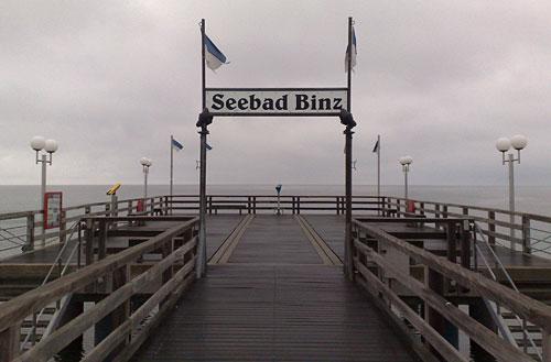 Schild Seebad Binz