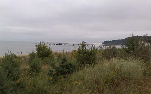 Blick auf die Seebrücke Göhren