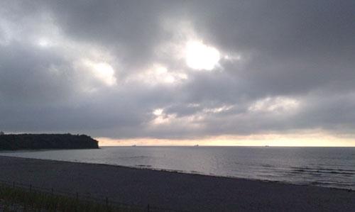 Sonnenaufgang über dem Nordperd und der Ostsee