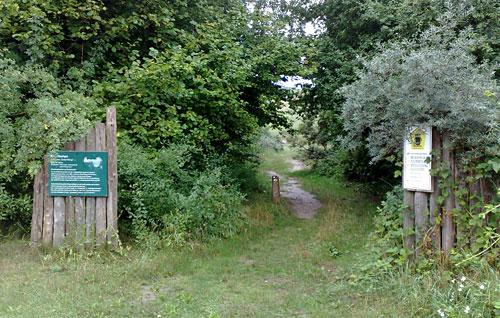 Eingang Naturschutzgebiet