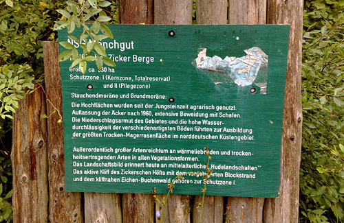 Infotafel Naturschutzgebiet Mönchgut