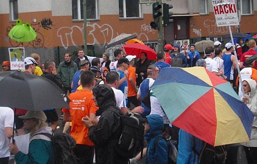 Läufer-Wiedersehen an der Yorckstraße