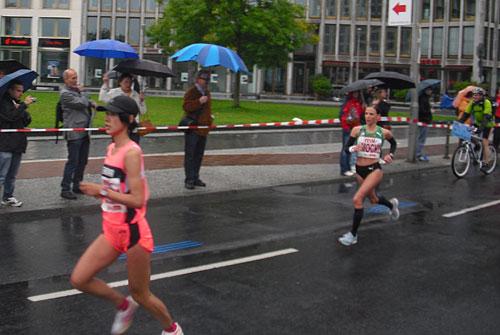 Sabrina Mockenhaupt beim Berlin-Marathon