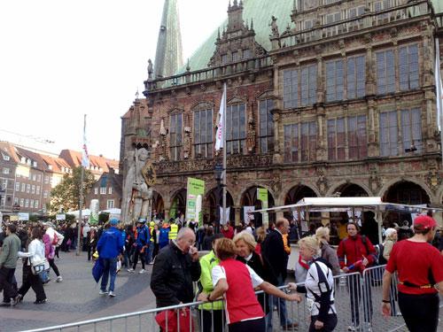 Marktplatz mit Roland und Bremer Rathaus