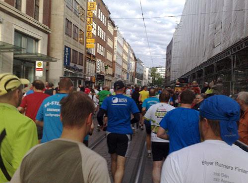 Marathon-Läufer auf der Bremer Obernstraße