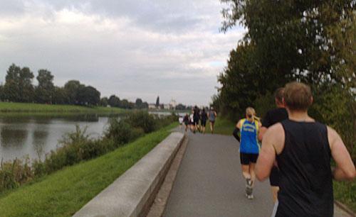 Läufer an der Weser