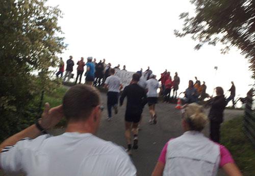 Läufer auf Steigung