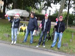 Zuschauer an der Kirchbachstraße