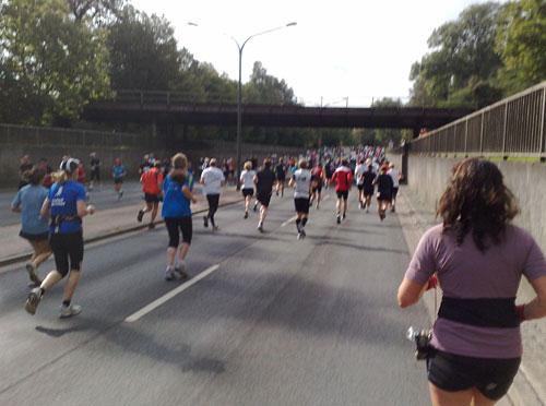 Halbmarathon- und Marathon-Läufer