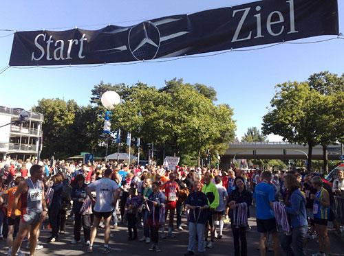 Ziel mit Läufern