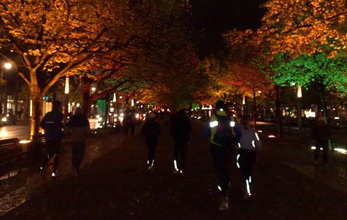 Läufer-Gruppe Unter den Linden