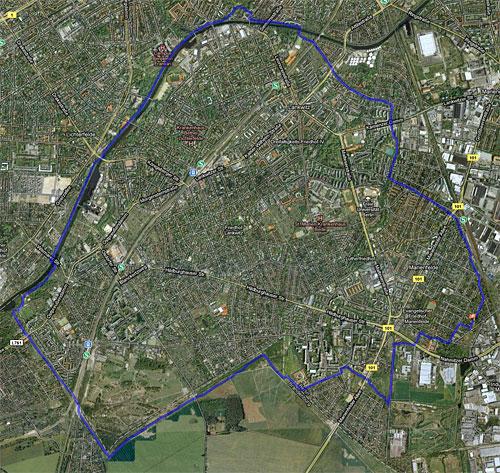 Karte Lauf am Teltowkanal