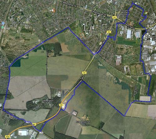 Karte der Lauf-Strecke