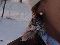 Eingefrorene Haare