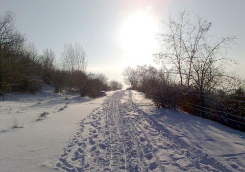 Verschneiter Anstieg