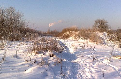 Weg im Schnee
