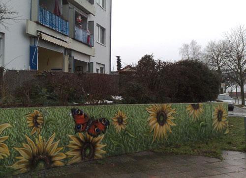 Banner mit Sonnenblumen