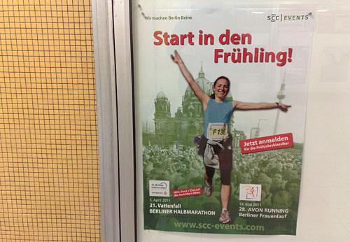 Plakat Halbmarathon