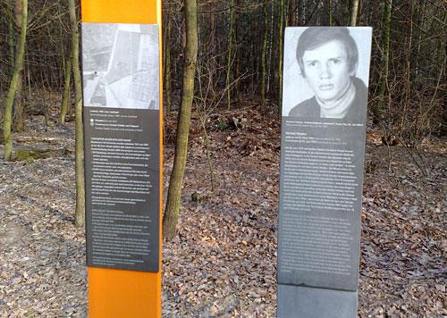Stele Herbert Kiebler am Mauerweg