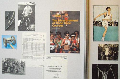 Wandtafel zur Geschichte des Marathon-Laufs