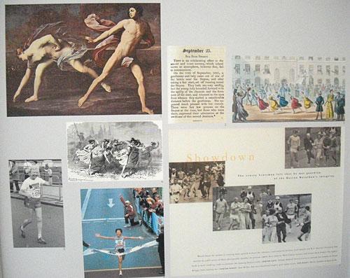 Schautafel zur Frauen-Lauf-Geschichte
