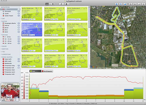 GPS-Lauf-Software rubiTrack