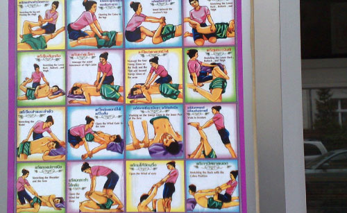 Schild Thai-Massage