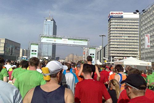 Läuferfeld nach dem Startschuss
