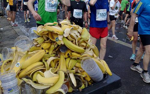 Bananenschalenberge