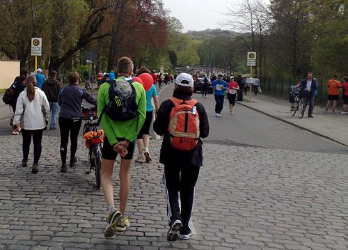 Läufer auf dem Heimweg