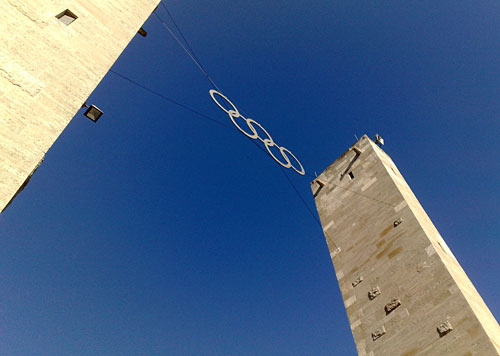 Olympische Ringe am Berliner Olympiastadion