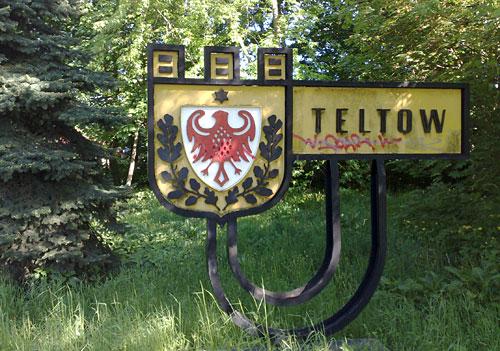 Altes Ortsschild Teltow
