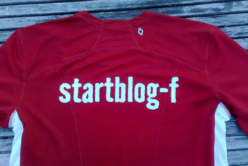 Laufshirt startblog-f, Rücken