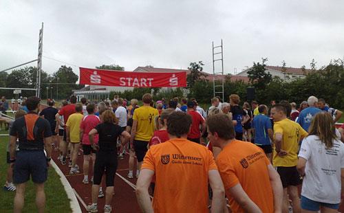 Läufer am Start des Halbmarathon