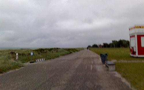 Streckenabschnitt Deichweg am Strand